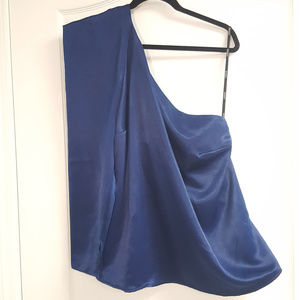 Eloquii One Shoulder Blue Blouse NWT